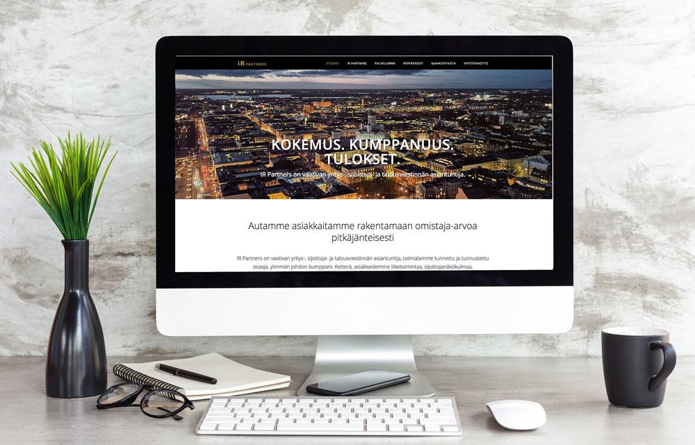 IR Partners verkkosivut